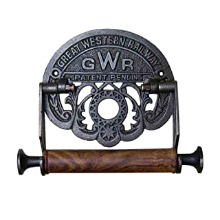 Cast Antique Iron Toilet Roll Holder GWR