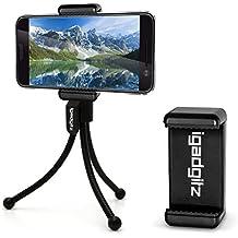 igadgitz Negro flexibles Mini Trípode de Mesa con Clip de bolsillo + Soporte Smartphone Adaptador Premium para HTC 10, One X9, One A9, One M7, One M8, One M9, One Mini 2, One Mini, One X9