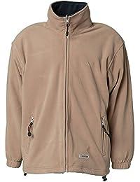 "Planam Fleece Jacke ""Stream"" Größe XL, camel / marine, 348056"