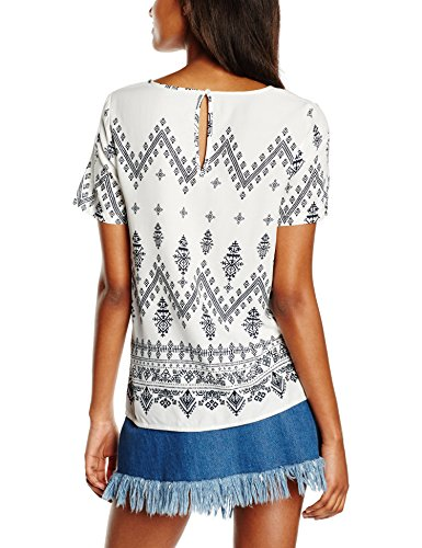 Vila Damen T-Shirt Vitokyo S/S Top Mehrfarbig (Snow White AOP:VITOKYO PRINT COMBO)