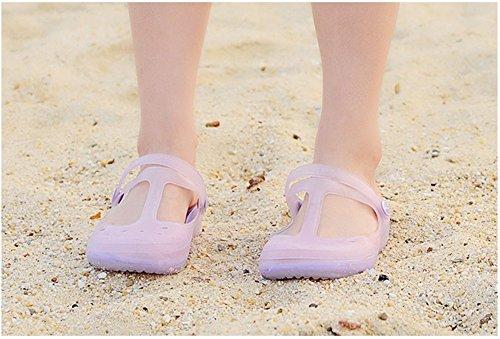 lifewheel femmes filles couleurs changeantes translucide Plage Vacances Sandales Chaussures plates Violet - violet