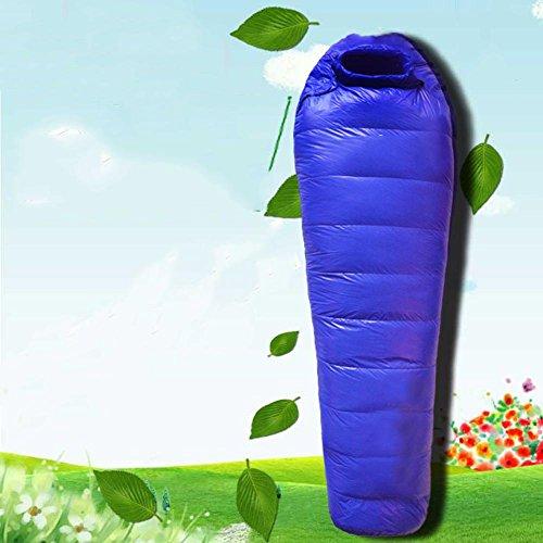 Rdjm campeggio esterno ultralight piuma sacco a pelo sacco a pelo mummia in stile verso il basso per mantenere caldo in primavera ed estate stagioni invernali , 1000 grams of duck , a