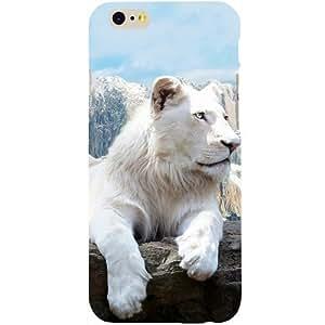 Casotec Snow Lion Design Hard Back Case Cover for Apple iPhone 6 / 6S