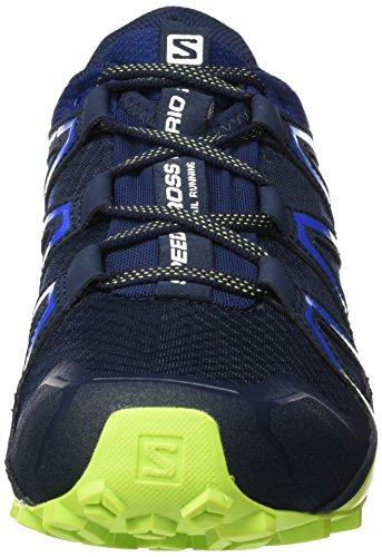 Salomon Herren Speedcross Vario 2 Trailrunning-Schuhe Navy Blazer/Nautical Blue/Lime Punch