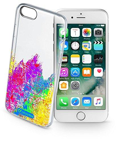 Cellularline Style Case Art - iPhone 7 TRASPARENTE, ROSA, VERDE, BLU