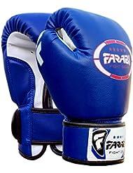 Gants de boxe junior enfants 4 oz Bleu Sparring trainning Punching Bag Pads Mitaines