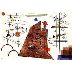 Cuadro sobre lienzo 60 x 40 cm: Heavy between light de Wassily Kandinsky / ARTOTHEK - cuadro terminado, cuadro sobre bastidor, lámina terminada sobre lienzo auténtico, impresión en lienzo