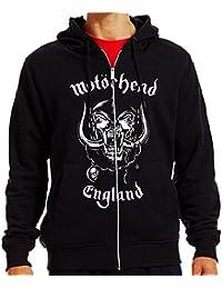Official MOTORHEAD Hoody/Hoodie Metal ENGLAND Logo ZIP All Sizes