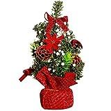 Justdolife 7.87 '' Weihnachtsschreibtisch Verzierung Moderne Weihnachtsbaum Bowknot Desktop Verzierung