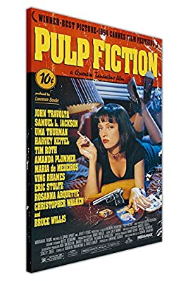 Pulp Fiction Movie Poster Canvas Wall Art Prints Room Decoration Pictures Front Cover Quentin Tarantino