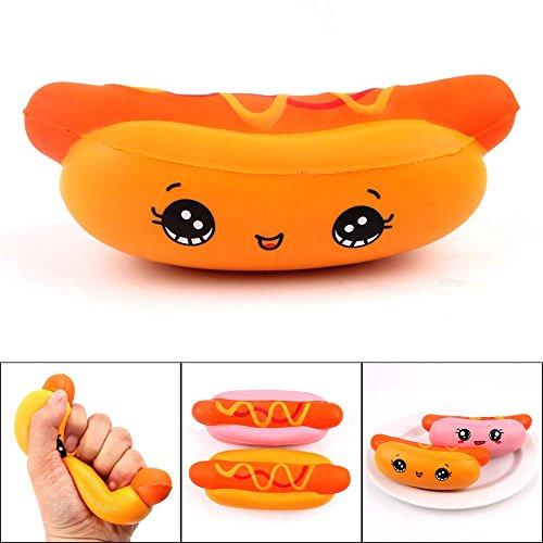 Altsommer Weihnachten Nett Cartoon-Hot Dog Muster Stressabbau Toys für Kinder Gescheken,Anti-Stress-Spielzeug,Langsame Steigende Spielzeuge mit Duft für Erwachsene, (B) (Halloween Dog Hot Finger)