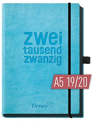 Chäff-Timer Deluxe A5 Kalender 2019/2020 Terminplaner [Blau] Terminkalender, Wochenplaner   Organizer - Wochenkalender mit Gummiband, Stifthalter und Einstecktasche - luxuriös planen! (Deluxe Organizer)