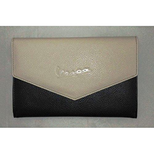 Portadocumentos Vespa original, color grisy crema, código605610M0GA.