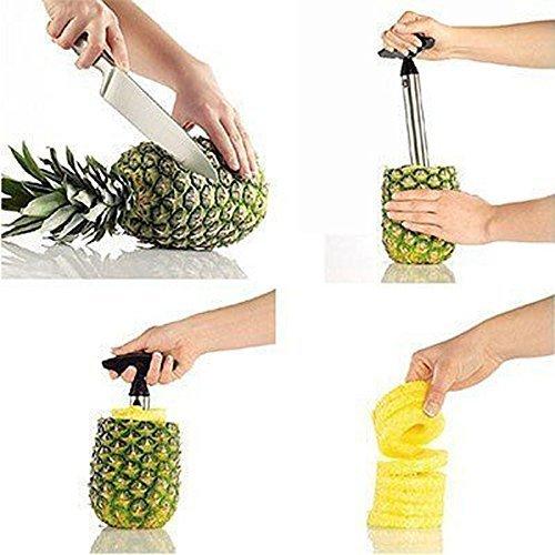 Tech Traders® New Edelstahl Fruit Ananas Schäler/Schneider/Entkerner kitchen-life Zeit Garantie - 5