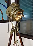 LARGE Vintage Theater Stage Nautical Spotlight - Industrial Nautical Floor Lamp