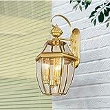 Eeayyygch Volle Kupferlampen im europäischen Stil Wandlampen Lichter Lichter Lichter Lichter Lichter Lichter Lichter Nachttischlampen [Energieklasse A +++]