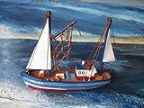 Schiffsmodell Kutter Helga Miniatur Boot Schiff Dekoration