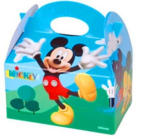 German Trendseller® - 8 x Micky Maus Party Boxen mit Griff zum Befüllen ┃ Disney ┃ Micky Maus Wunderhaus ┃ Kindergeburtstag (Gratis Mickey-maus)