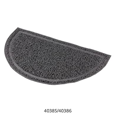 Cat Litter tray mat PVC pad stop slipping and mess 2 sizes semi circle