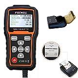 Foxwell BT705Verificador de batería, analizador para detectar fallos en el sistema de carga, analizador de batería de 12V 24V más mini impresora Bluetooth