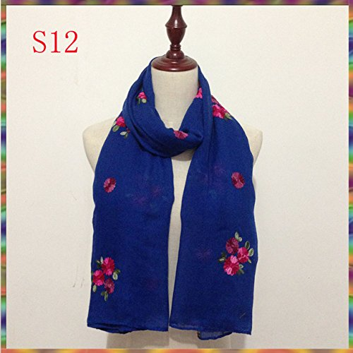 Generic Embroidered ladies Women Scarves and Shawls Fashion Design Artistic Bandana and Pashmina brand shawl