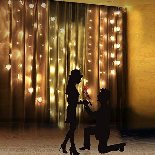 Vorhang Liebhaber Herz Vorhang Lichter Party Hochzeit Fee Outdoor Xmas Garden Decor Lampe YE hausgarten küche zubehör Fenster behandlungen vorhänge - 90 Behandlungen