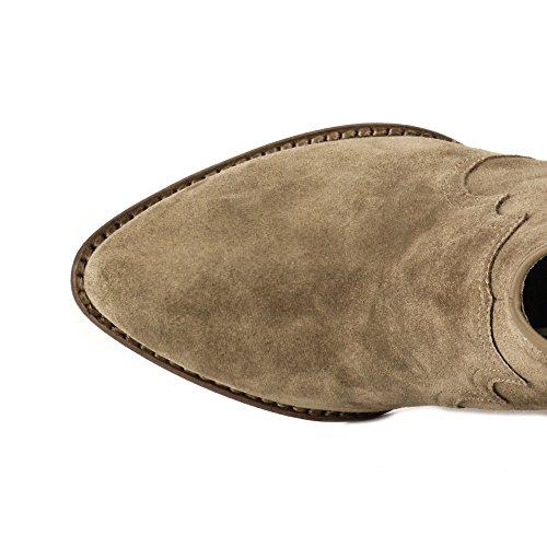 Ash Chaussures Joe Cocco Boots en Daim Beige Femme Cocco