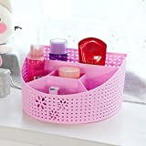 #2: LAZYKARTS® Multi Segment hollow basket desk organizer storage box - cosmetic organizer - Bathroom Storage -office box organizer ( Color May Vary ),Set of 1 Pcs