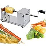 Kretix New Manual Stainless Steel Potato Spiral Slicer Cutter Twister Maker Machine