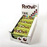 ROO'BAR Hanfprotein & Chia - 16 Stück (16x 50g) - Rohkost-Riegel mit Superfoods (bio, vegan, glutenfrei, roh)