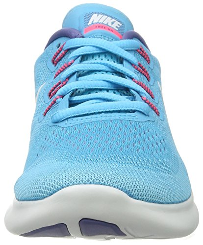 Nike Damen Free Run 2017 Hallenschuhe Mehrfarbig (Chlorine Blue/Off White-Polarized Blue)