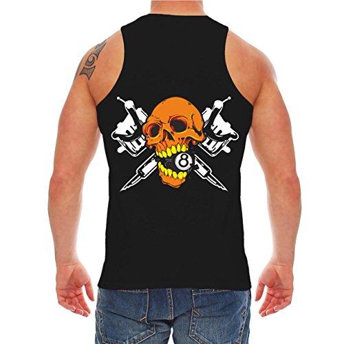 Männer und Herren Trägershirt my life my style FUCK THE NORM (mit Rückendruck) Schwarz