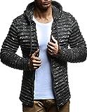 LEIF NELSON Herren Pullover Hoodie Strickjacke Kapuzenpullover Jacke Hoody Sweatjacke Zipper Sweatshirt Longsleeve LN20724; Größe M, Anthrazit