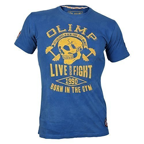 OLIMP LIVE & FIGHT Maschile Tee - HAMMER - blu, XXL