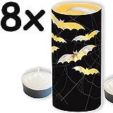 Windlicht / Teelicht * HALLOWEEN & FLEDERMAUS * - 8 gruselige Deko-Umrandungen für Teelichter // Kerzen