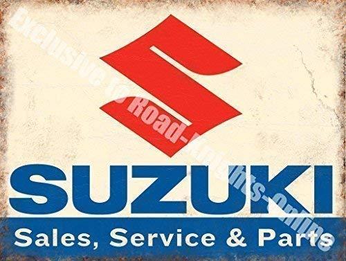 Suzuki Vendita Manutenzione & Parti Moto Auto Metallo/Insegna In Acciaio - 15 x 20 cm