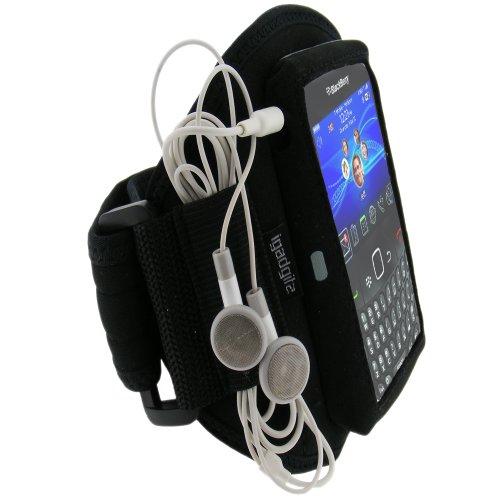 iGadgitz Wasserabweisend Neopren Sportarmband für BlackBerry Curve Gemini 8520/Curve 3G 9300, schwarz Blackberry Curve Fall