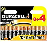 12x Duracell MN1500 Plus Power AA Double A Remote Battery Batteries 8+4 Free
