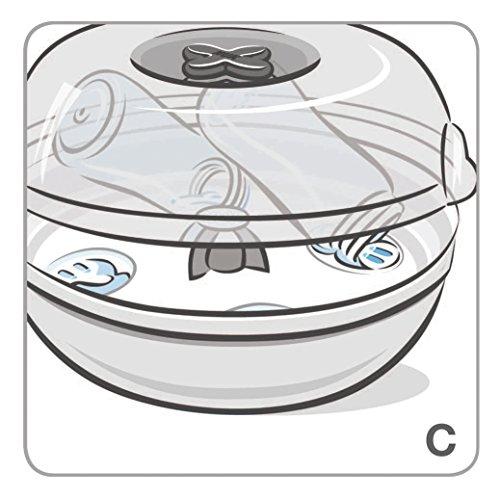 NUK Micro Express Plus Mikrowellen Sterilisator, für bis zu 4 Babyflaschen und Zubehör, schnell, effektiv und gründlich - 7