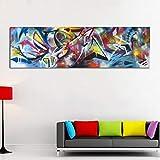 YOHAWOD Stampa su Tela Senza Cornice Poster Grandi Dimensioni Astratte Dipinti Ad Olio Moderne Immagini Colorate di Arte della Parete Stampe Poster per Soggiorno su Tela Senza Cornice