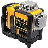 DeWALT Multilinienlaser 3x 360 Grad, gruen, 10,8 V / 2 Ah im Set und Koffer, 2 Stück, DCE089D1G-QW