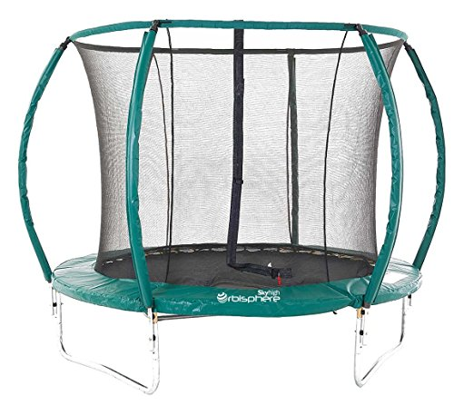 Skyhigh Orbisphere 8/10 / 12/14 Foot Superior Spec Trampoline with Safety Enclosure and Premium Ladder Test