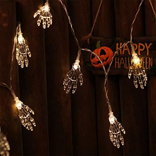 lloween Innen/Außen 1,2m 10 LEDs Stringa Hand Hand Halloween Skelett Nachtlicht Orrore für Halloween Party Haus Bar KTV ()