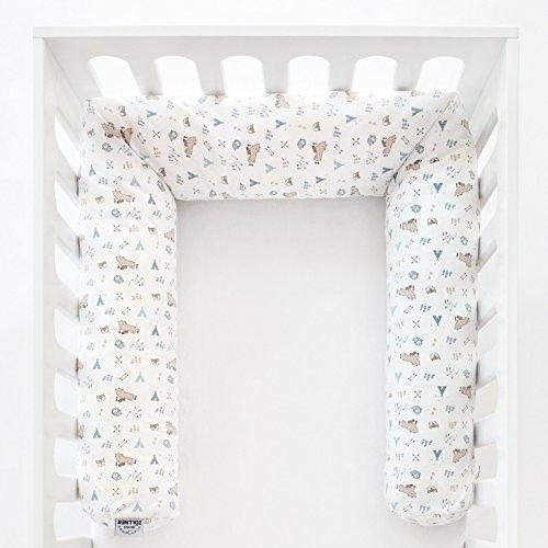 Zöllner Nestchenschlange - Schlangen-Kissen als Kopfschutz im Baby-Bett, zum Spielen oder Kuscheln, Bezug aus 100{9016d481d1252ed4ac5338780a2c97b48d49b69260260d215f2ad4ed88e226d4} Baumwolle - 180 cm Länge