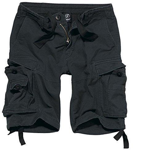 Brandit Vintage Shorts Pantaloncini Vintage Antracite Black Large