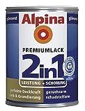ALPINA 2in1 Buntlack & Grundierung 500 ml Tiefschwarz RAL 9005, glänzend