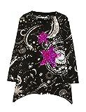 Desigual Ts_chivite, T-Shirt à Manches Longues Fille, Noir (Negro 2000), 12 Ans (Taille Fabricant: 11/12)