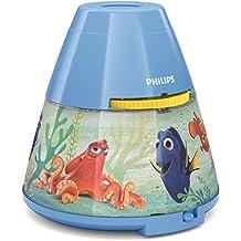Philips e Disney Lampada da Tavolo Finding Dory, Proiettore LED, Blu Scuro