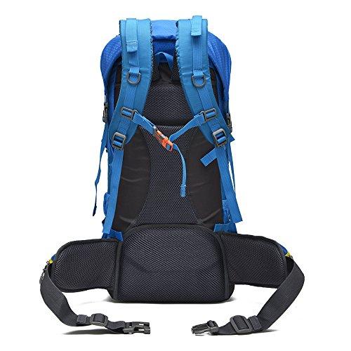 LINGE-Outdoor-Bergsteigen Tasche wasserdicht sport wandern camping Rucksack große Kapazität langen Stent 50L Blue