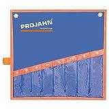 Projahn 2216E - Custodia avvolgibile per articolo 2216, set di chiavi metriche doppie a occhiello aperto, 6 pezzi